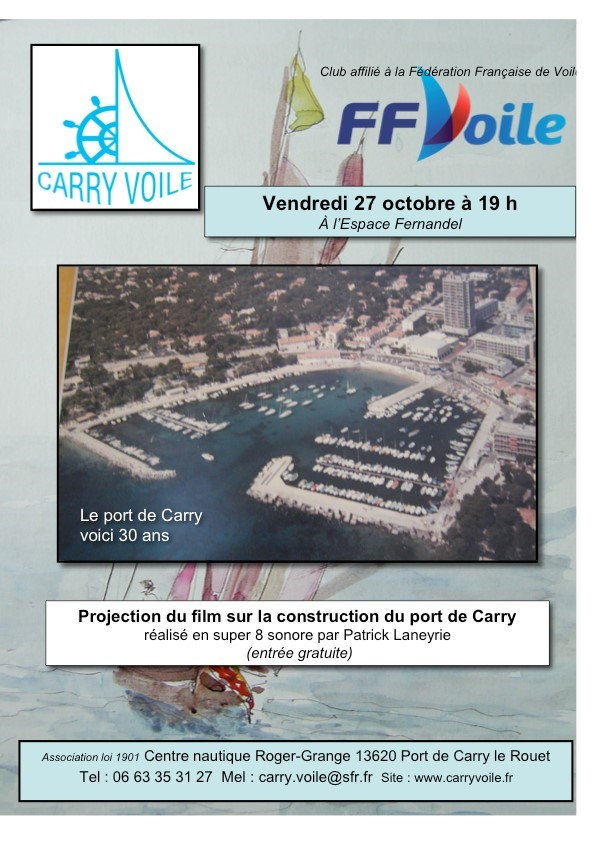 Carry Voile - Construction du port de Carry